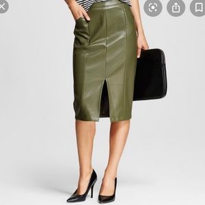 Who What Wear Faux Leather Pencil Skirt